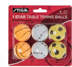 1-Star Sport Table Tennis Balls 6-Pack