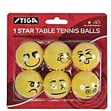 Stiga 1-Star Emoji Table Tennis Balls 6-Pack