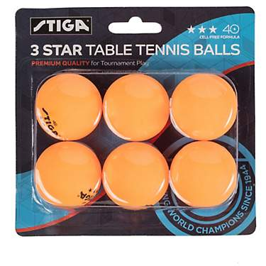 Stiga 3-Star Table Tennis Balls 6-Pack