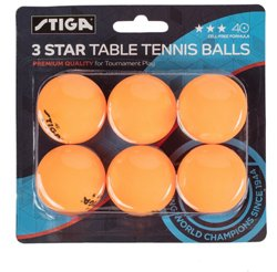 3-Star Table Tennis Balls 6-Pack