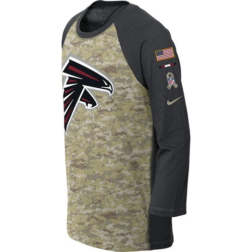 Nike Boys' Atlanta Falcons Salute to Service Legend Raglan T-shirt