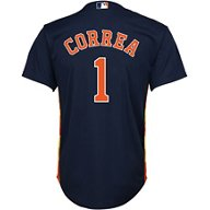 Majestic Boys' Houston Astros Carlos Correa 1 COOL BASE Alternate Replica Jersey