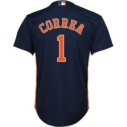 Boys' Houston Astros Carlos Correa 1 COOL BASE Alternate Replica Jersey