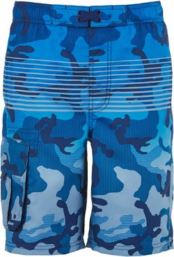 O'Rageous Boys' Gradient Camo Printed Boardshorts
