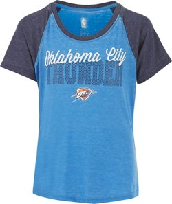 NBA Girls' Oklahoma City Thunder Russell Westbrook 0 Half Court Raglan T-shirt