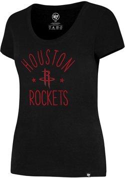'47 Houston Rockets Women's MVP Splitter Scoop Neck T-shirt
