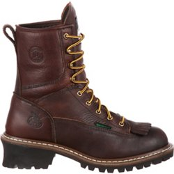 Men's Logger Lace Up Work Boots