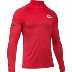 dff1a8aad Men s Kansas City Chiefs Authentic Combine Twist Tech 1 4 Zip Pullover