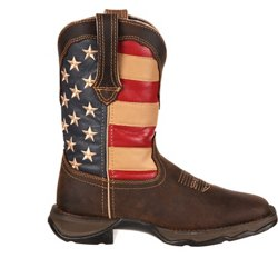 Women's Lady Rebel Patriotic Pull-On Western Flag Boots