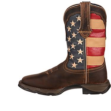 a95eacc4d9a Durango Women's Lady Rebel Patriotic Pull-On Western Flag Boots