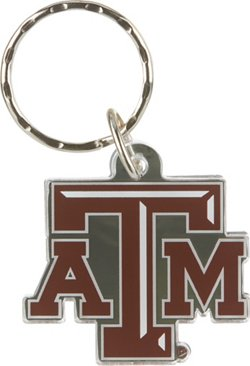 Stockdale Texas A&M University Metallic Freeform Acrylic Key Chain