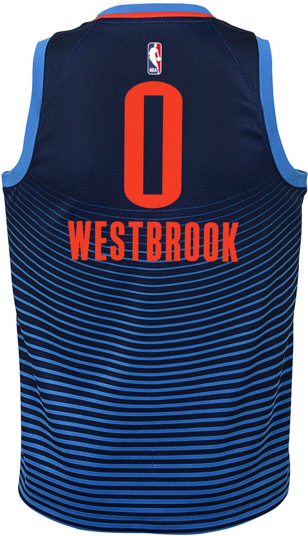 7897a465705 Nike Boys' Oklahoma City Thunder Russell Westbrook Swingman Statement Jersey  | Academy