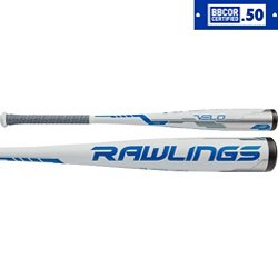 Rawlings Adults' Velo 2018 College/High School Acoustic Alloy Baseball Bat -3