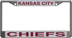 Stockdale Kansas City Chiefs Mirrored License Plate Frame