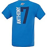Majestic Men's Oklahoma City Thunder Carmelo Anthony 7 Vertical Name and Number T-shirt