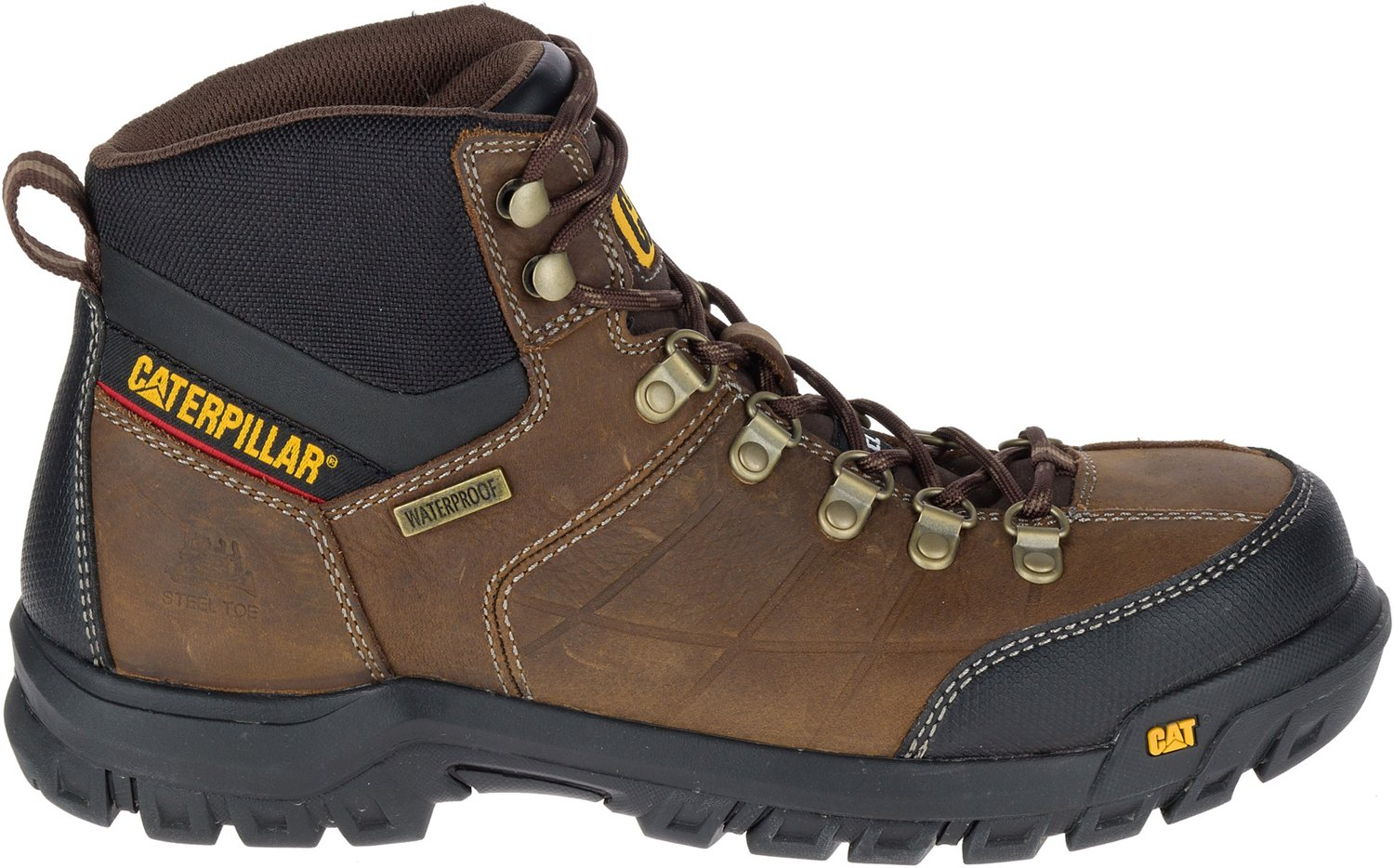 Cat Footwear Men's Threshold EH Steel Toe Lace Up Work Boots