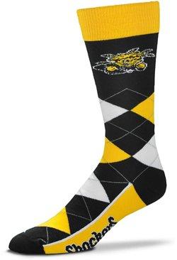 For Bare Feet Men's Wichita State University 505 Argyle Line Up Socks