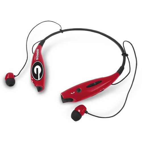 Mizco University of Georgia Wireless Bluetooth Neckband Earbuds