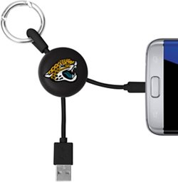Mizco Jacksonville Jaguards Micro Phone Charger Keychain Cable