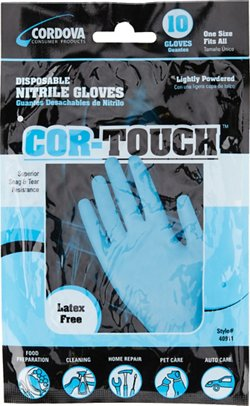 Cordova Consumer Products Cor-Touch Nitrile Gloves 10-Pack
