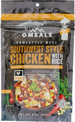 O Meals Homestyle 8 oz Precooked Self-Heating Southwest Style Chicken with White Rice