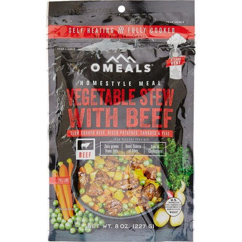 O Meals Homestyle 8 oz Precooked Self-Heating Vegetable Beef Stew
