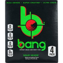 Bang RTD Flavored Sports Energy Drink 4-Pack