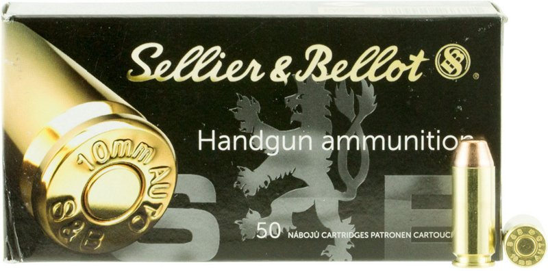 Sellier & Bellot 10A FMJ 10mm 180-Grain Centerfire Handgun Ammunition - Pistol Shells at Academy Sports thumbnail
