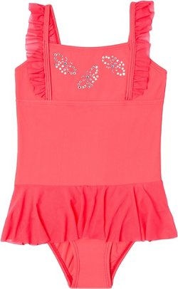 O'Rageous Girls' Flutter Away 1-Piece Skirtini