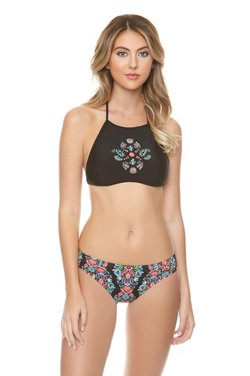 O'Rageous Juniors' Festival Bloom Halter Swim Top