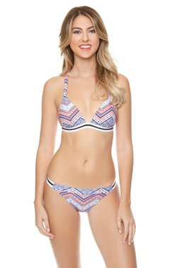 O'Rageous Juniors' Marbella Chevron Molded Bra Swim Top