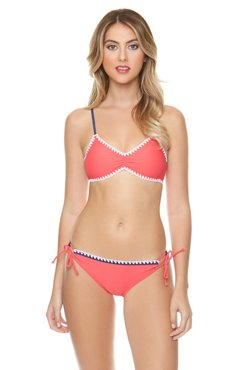 O'Rageous Juniors' Shell Stitch Bralette Swim Top