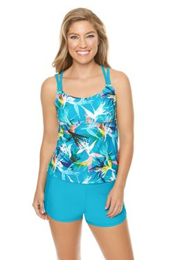 BCG Women's Lost Paradise Tankini Swim Top