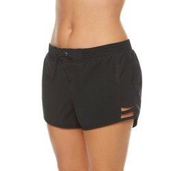 BCG Women's Solid Taslon Swim Short