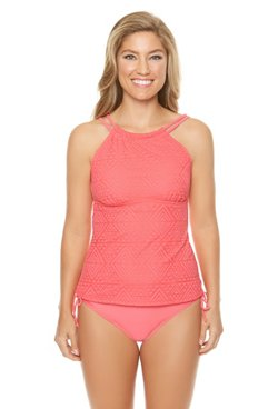 Sweet Escape Women's Aztec Bound Underwire D-Cup Tankini Swim Top
