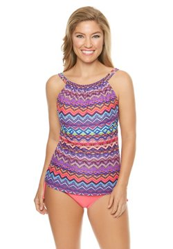 Sweet Escape Women's Midnight Mirage Underwire Tankini Swim Top