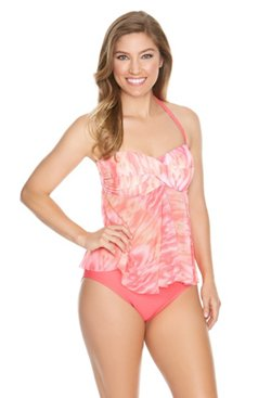 Sweet Escape Women's Native Batik Bandeaukini Swim Top