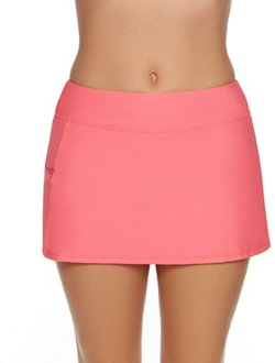 Sweet Escape Women's Missy Solid Swim Skort