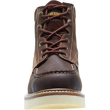 7f0b4e49ceb Wolverine Men's Loader 6 in Steel-Toe Wedge Lace Up Work Boots