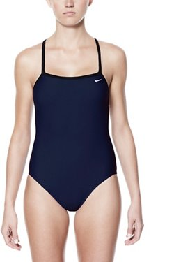 Nike Women's Performance Solid Racerback 1-Piece Swimsuit