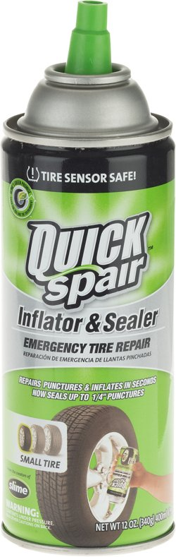 Slime Quick Spair Emergency Tire Repair Inflator and Sealer
