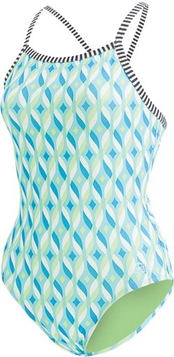 Dolfin Girls' Uglies 1-Piece Printed Swimsuit