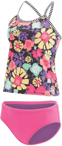 Dolfin Girls' Uglies Printed 2-Piece Tankini Swimsuit