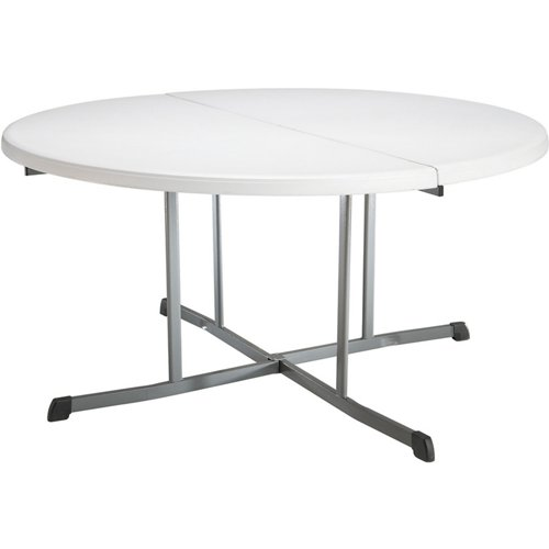 Lifetime Commercial Round Fold-in-Half Table