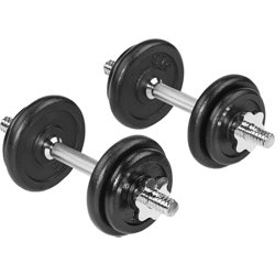 40 lb Plate Dumbbell Set