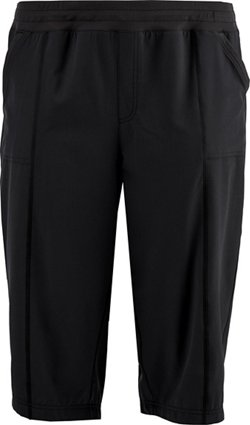 Women's Stretch Woven Plus Size Capri Pants