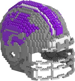 Forever Collectibles Kansas State University 3-D BRXLZ Helmet Puzzle