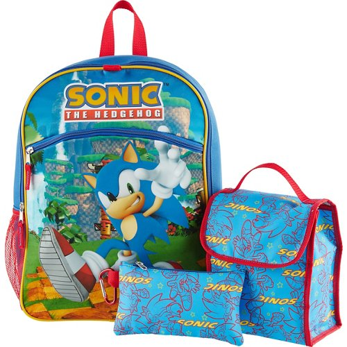 Sonic the Hedgehog Kids' 16 in Backpack with Lunch Kit