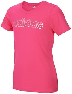 adidas Girls' climalite V-neck T-shirt