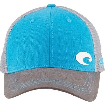 cca44fc530 real costa del mar mens offset logo hd trucker cap c0e74 34b79